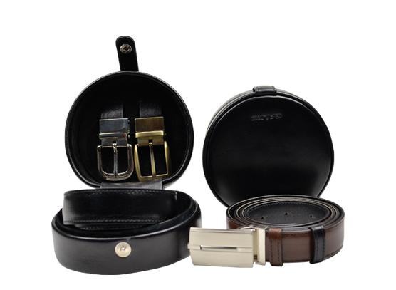 Set of belts in belt case